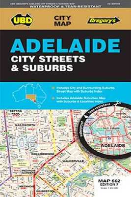 Adelaide City Streets & Suburbs Map 562 7th Ed