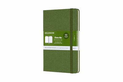 Two-Go Ruled/Plain Grass Green Large Notebook - Moleskine