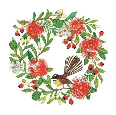 NZ Christmas Wreath card