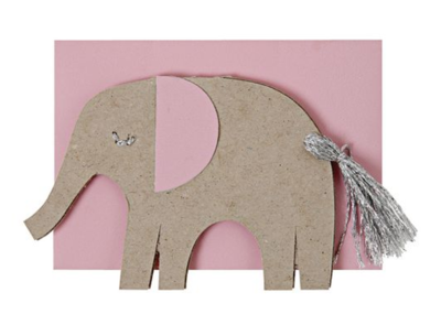 Pink Elephant Mini Gift Card