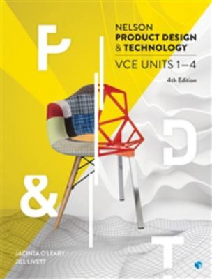 Nelson Product Design and Technology VCE Units 1-4 Student Book with 4 Access Codes