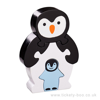 Penguin & Baby Fairtrade Wooden Puzzle