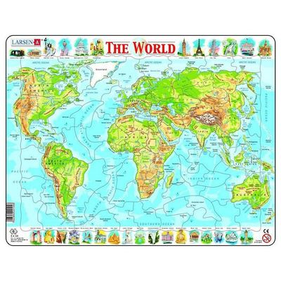 Physical Map of the World Puzzle