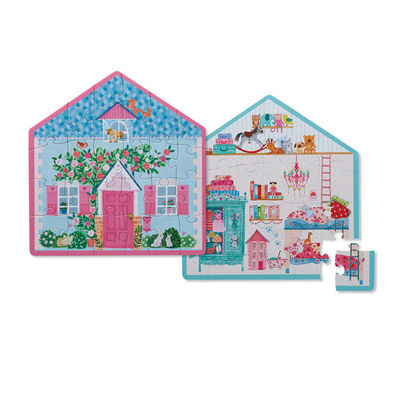 Little House Two-Sided 24pc Puzzle