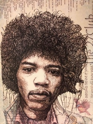 "Jimi Hendrix - ""Frame It"" Art Cards"