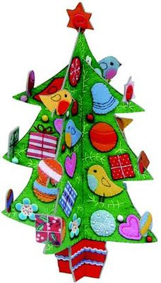 Christmas decoration Festive birds Pop and slot
