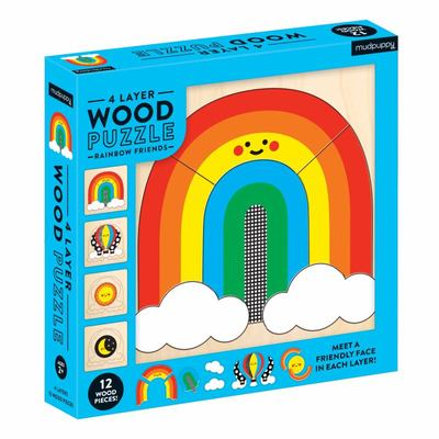 Rainbow Friends - Four-layer Wood Puzzle