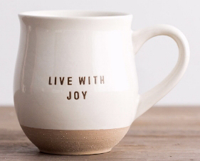 Mug Live With Joy Clay Dipped