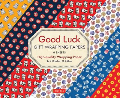 Good Luck Gift Wrapping Papers - 6 Sheets - 6 Sheets of High-Quality 24 X 18 Inch Wrapping Paper