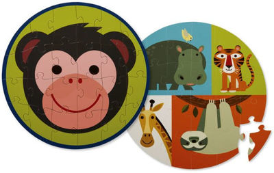Monkey Friends Two-Sided 24 pc Puzzle