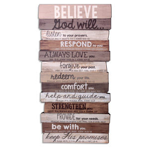 Believe Wall Decor Medium