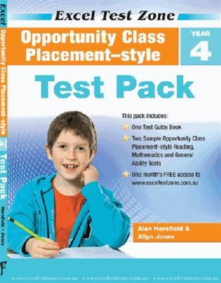 Excel Test Zone Opportunity Class Placement-style Test Pack Year 4