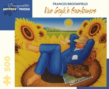 Large frances broomfield van gogh rsquo s sunflowers 500 piece jigsaw puzzle 18
