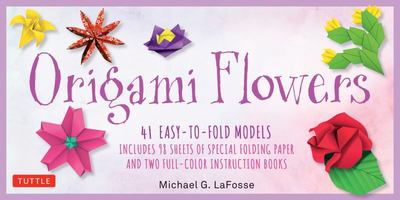 Origami Flowers Kit - 41 Easy-to-Fold Models - Includes 98 Sheets of Special Folding Paper (Kit with Two Instruction Books of 41 Projects) Great for Kids and Adults!