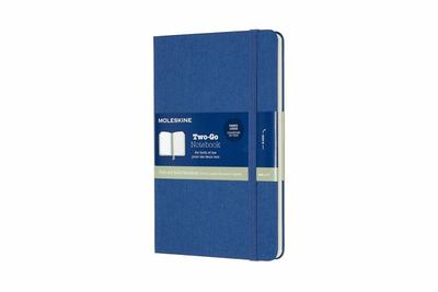 Two-Go Ruled/Plain Lapis Blue Large Notebook - Moleskine