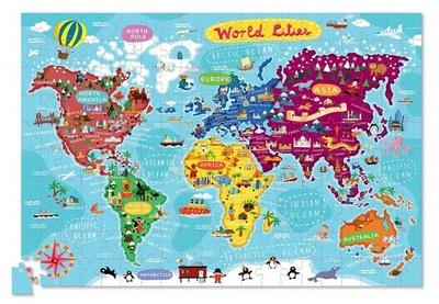 World Cities Puzzle & Poster Tube (200pc)