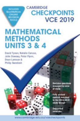 VCE Mathematical Methods Units 3 and 4 2019 and QuizMeMore - Cambridge Checkpoints