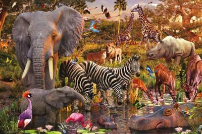 African Animal World Puzzle 3000pc - Ravensburger
