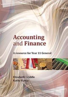 Accounting and Finance : A Resource For Year 11 General - Cengage