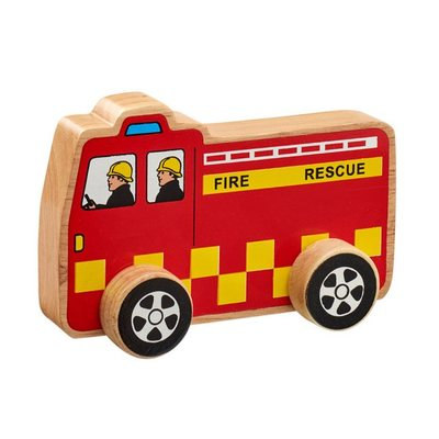 Wooden Fairtrade Fire Engine