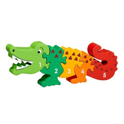 Wooden Fairtrade Crocodile Puzzle