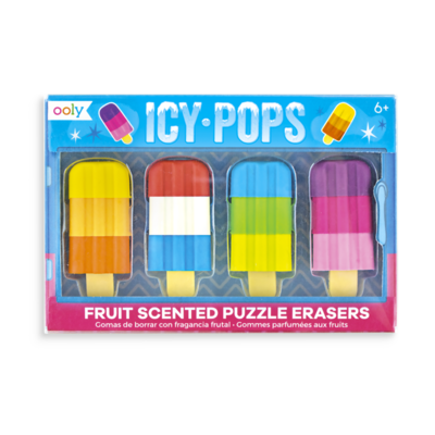 Icy Pops Fruit Scented Puzzle Erasers