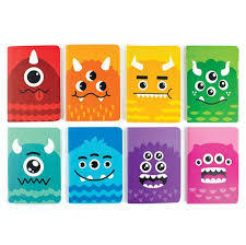Pocket Pals  Journals - Mini / Monster - 8 Assorted Journals