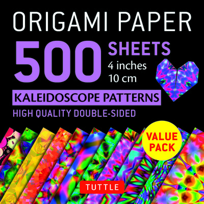 Origami Paper 500 Sheets Kaleidoscope 4 (10 Cm) - Tuttle Origami Paper - High-Quality Origami Sheets Printed with 12 Different Designs