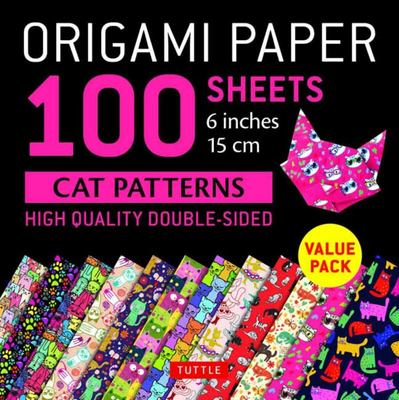 Origami Paper 100 Sheets Cat Designs 6 (15 Cm)