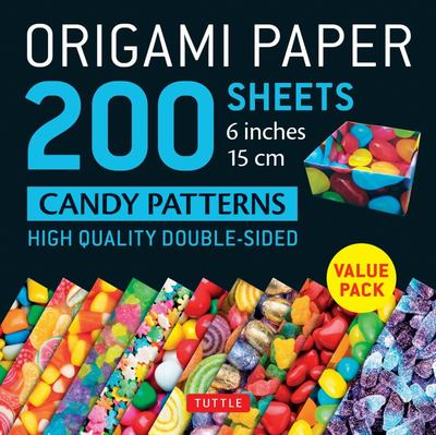 Origami Paper 200 Sheets Candy Patterns 6 (15 Cm) - Tuttle Origami Paper: High-Quality Origami Sheets Printed with 12 Different Patterns: Instructions for 6 Projects Included
