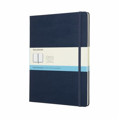 Moleskine - Classic Hard Cover Notebook - Dot Grid - Extra Large - Sapphire Blue
