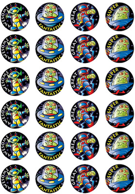 MT315 Metallic Stickers Space Invaders - ATA