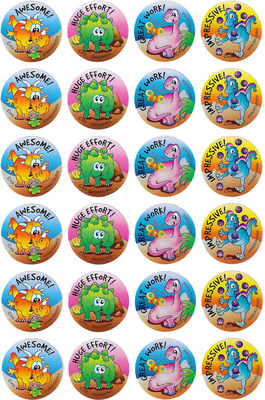 MS080 Merit Stickers Dinosaurs Pack of 96 - ATA