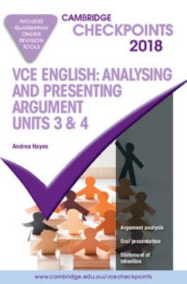VCE English - Analysing and Presenting Argument, Units 3 and 4