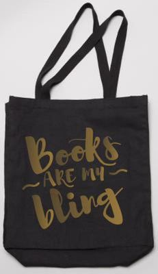 Books Are My Bling Tote (black)
