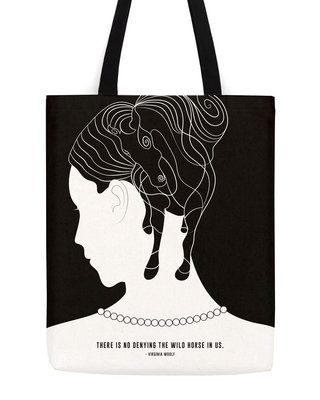 Virginia Woolf Horse Tote