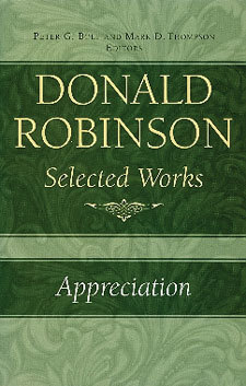 Donald Robinson - Appreciation