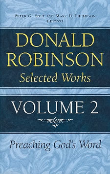 Donald Robinson - Selected Works Volume 2 - Biblical and Historical Studies