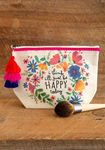Canvas Pouch Happy Today