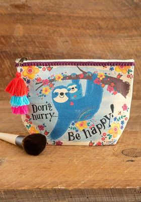 Canvas Pouch Don't Hurry Be Happy Sloth