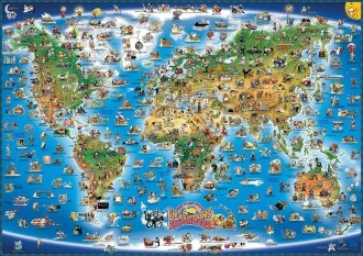 Map of Inventions and Explorers