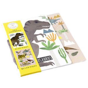 Notebook Set -  Dinosaur - 1 plain pages, 1 ruled pages set 2