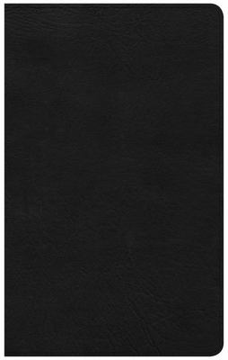 CSB Bible Ultrathin Reference Bible, Black Leathertouch