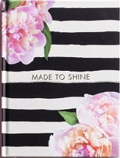 Journal Made To Shine Black/White/Floral