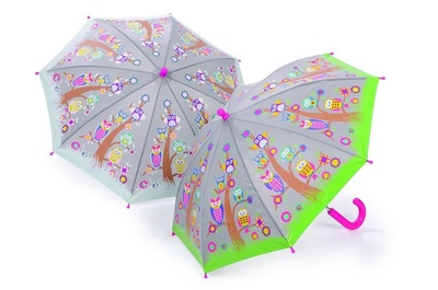 Colour Changing Umbrella - Owls