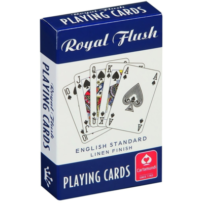 Royal Flush Playing Cards Blue