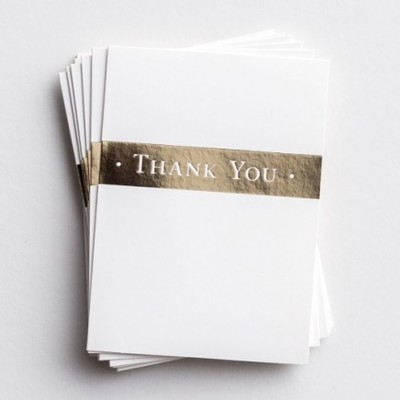 Trend Notes Thank you Gold Strip 10pk