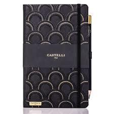 Notebook Ruled Art Deco Black and Gold