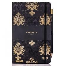 Notebook Ruled Baroque Black & Gold