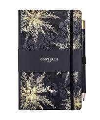 Notebook Ruled Midnight Floral Heather